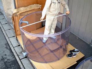 塩ビ製円筒タンク底面傾斜